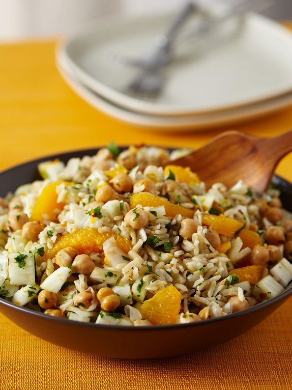 Rice Salad W Fennel Orange And Chickpeas Forks Over Knives The Cookbook Whole Food Recipes Recipes Alkaline Diet Recipes