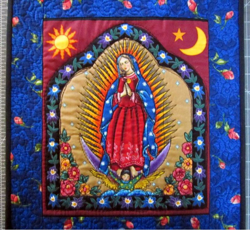 Our Lady Of Guadalupe Quilt // Wall Quilt // Mexican Saint