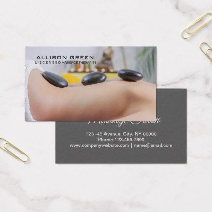 Aromatherapy Therapist Hot Stone Massage Salon Business Card