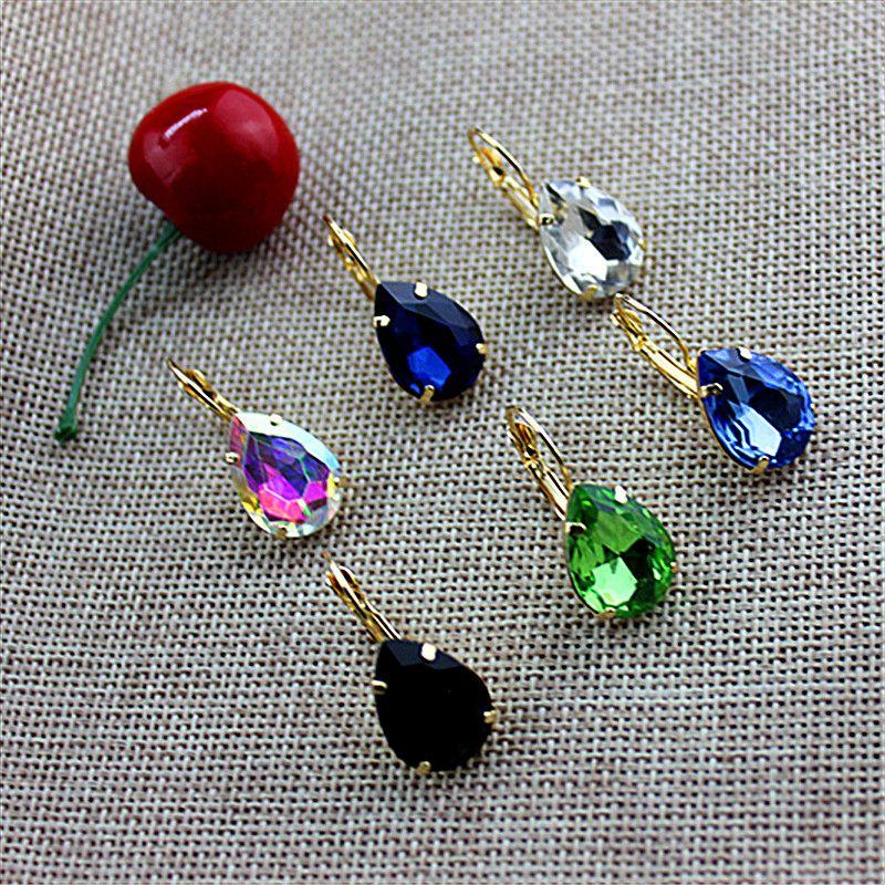 Multicolor vrouwen mode-sieraden groothandel fabriek meisjes verjaardagsfeestje flowery oorhaak waterdruppels oorbellen gratis verzending!