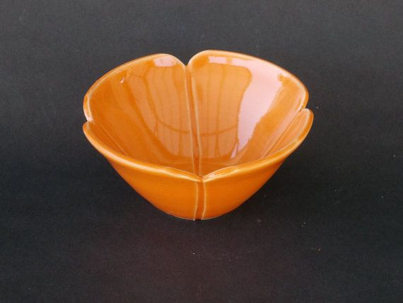 Poppy Ring Bowl California  Orange Poppy Red and by CindySearles