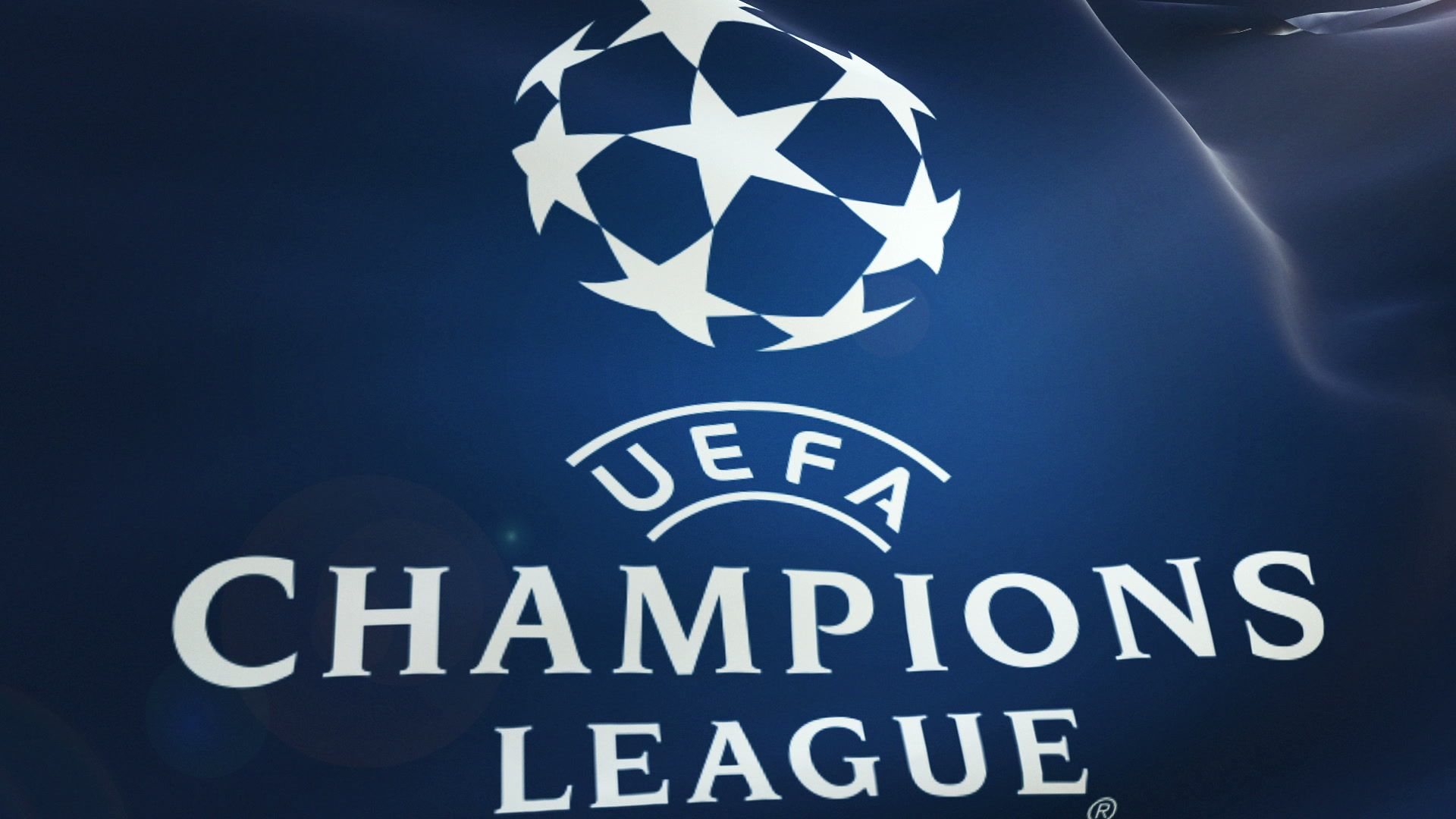 Logo  UEFA Footage,#Champions# Flag League Champions Stock