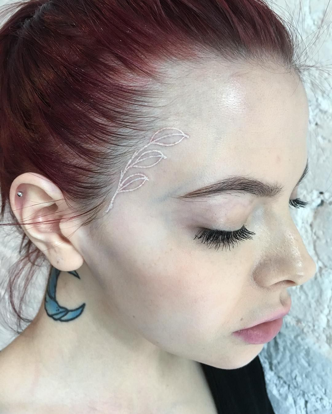 Instagram Small Face Tattoos White Rose Tattoos Ink Tattoo