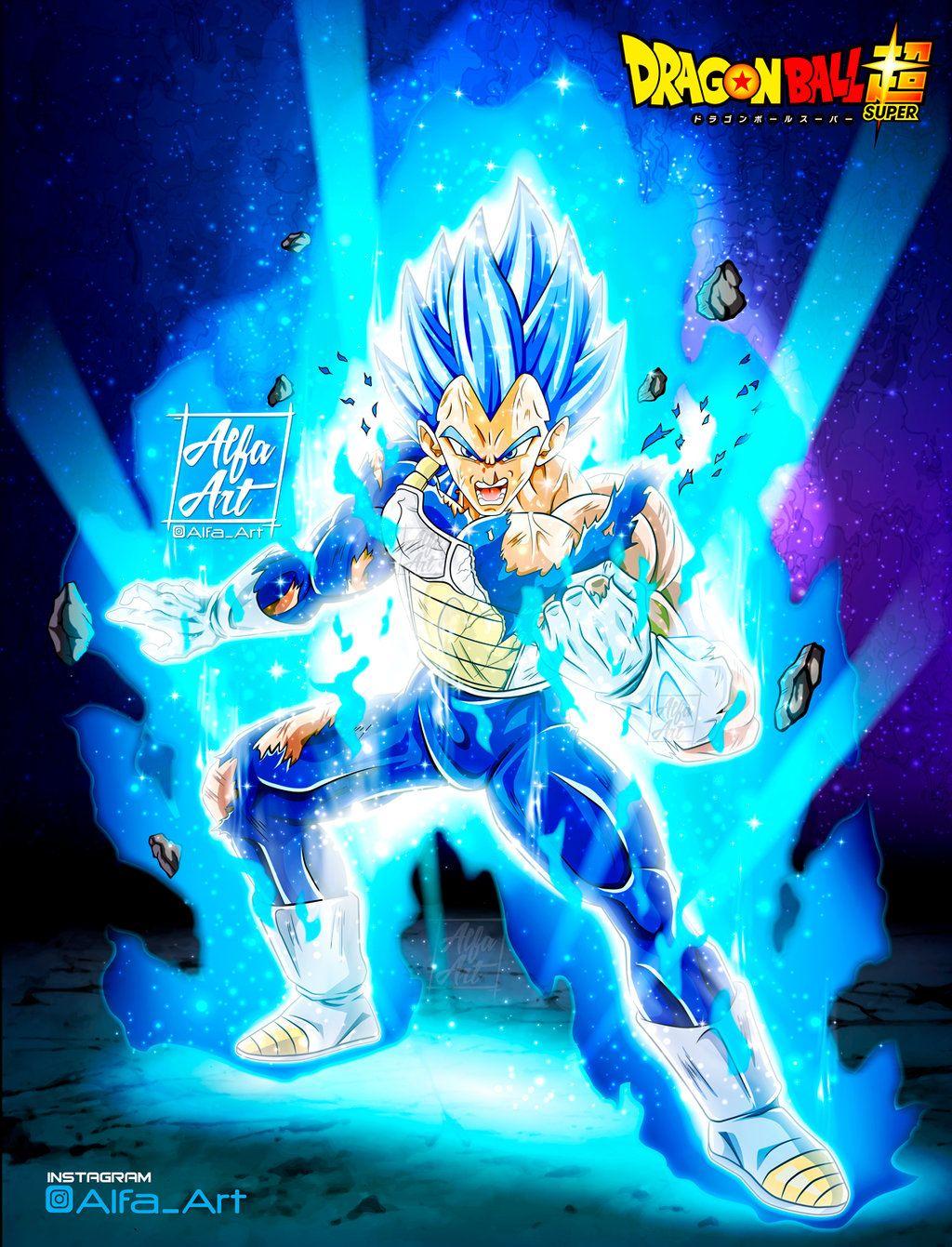 Wallpaper Vegeta Ssj Blue Evolution By Alfa Art Dragon Ball Super Manga Dragon Ball Super Wallpapers Dragon Ball Wallpapers