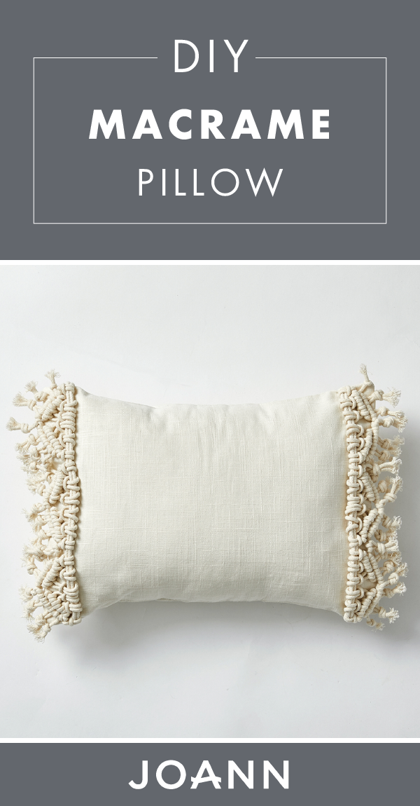 How To Make a Macrame Pillow | JOANN
