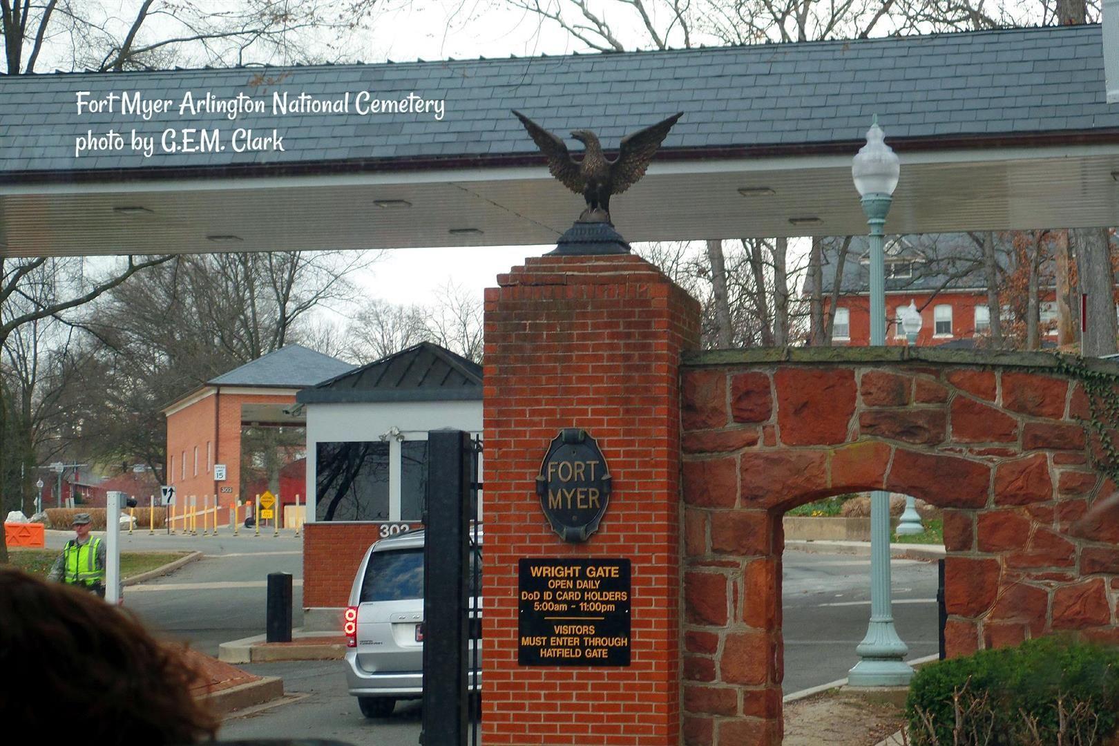 Fort Myer Entrance At Arlington National Cemetery National Cemetery Arlington National Cemetery Fort Myer