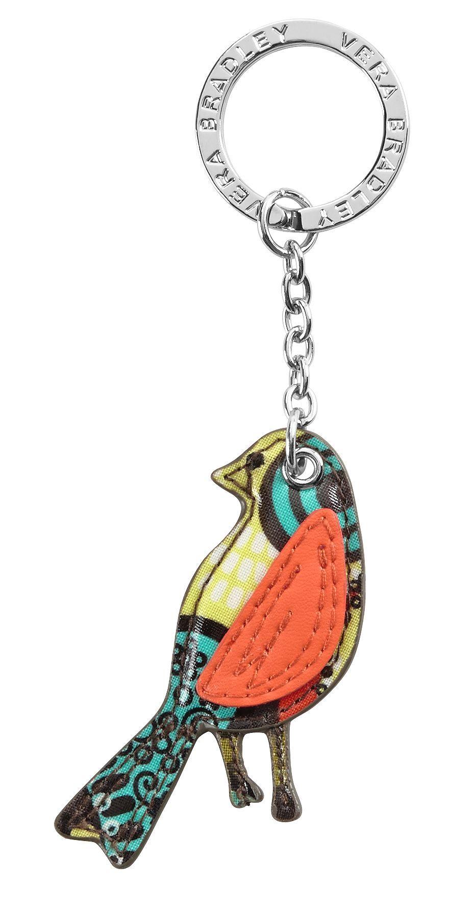 Bird Keychain in Flower Shower, $12 | Vera Bradley