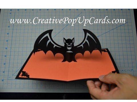 Scarybat Pop Up Card Template Halloween Cards Handmade Halloween Pop Up Cards Halloween Cards Diy