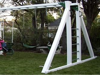 Monkey Bar System With A-Frame: swingsetsolutions.com in ...