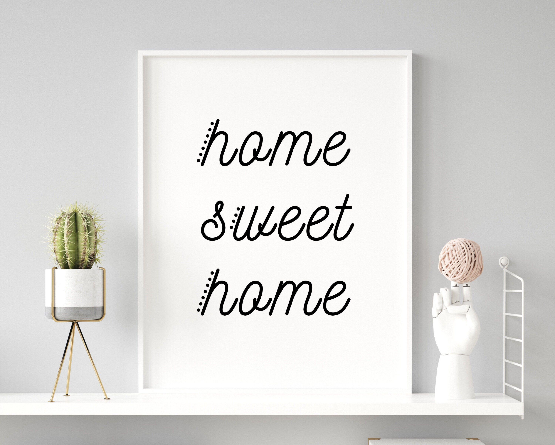 Home Sweet Home Sign Kitchen Printable Artwork Living Room   Etsy