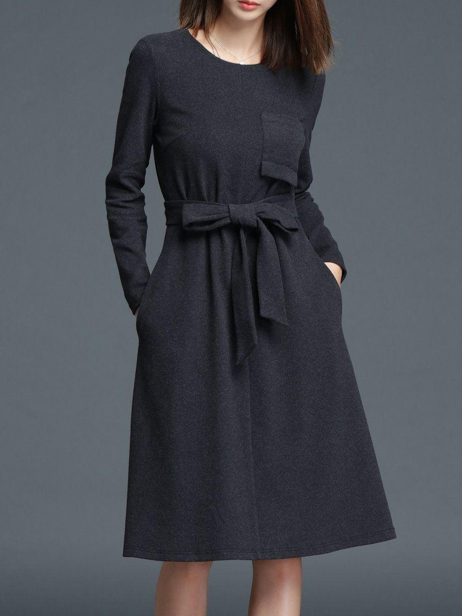 Simple Cotton Grey Dress