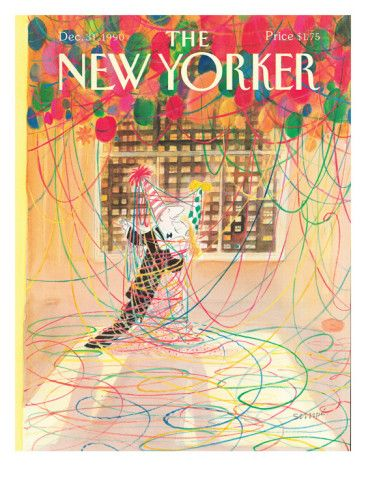 New Yorker cover print by Jean-Jacques Sempé. Please Santa!