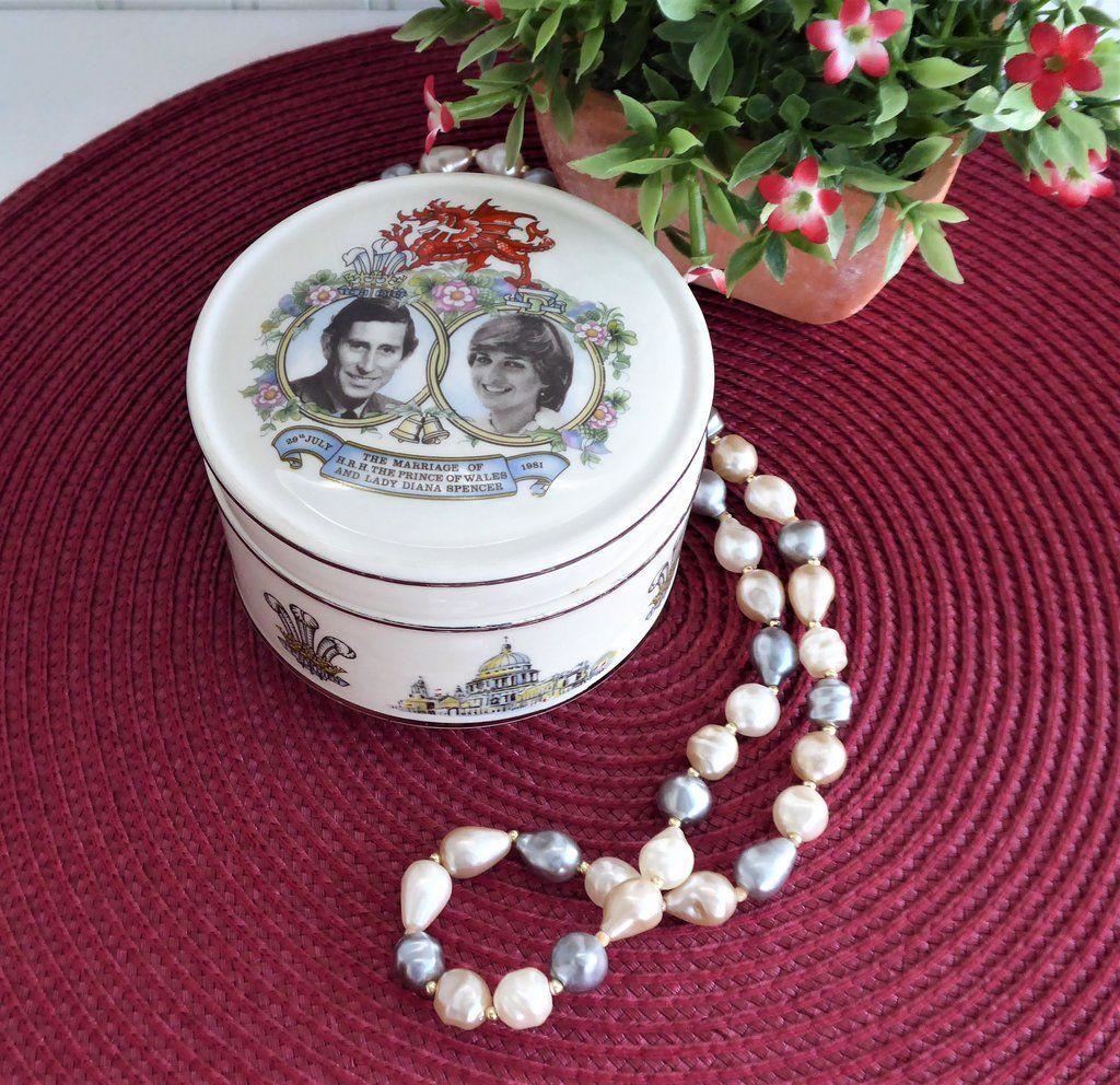 Sadler Powder Box Royal Wedding Charles Diana Jewelry Box 1981
