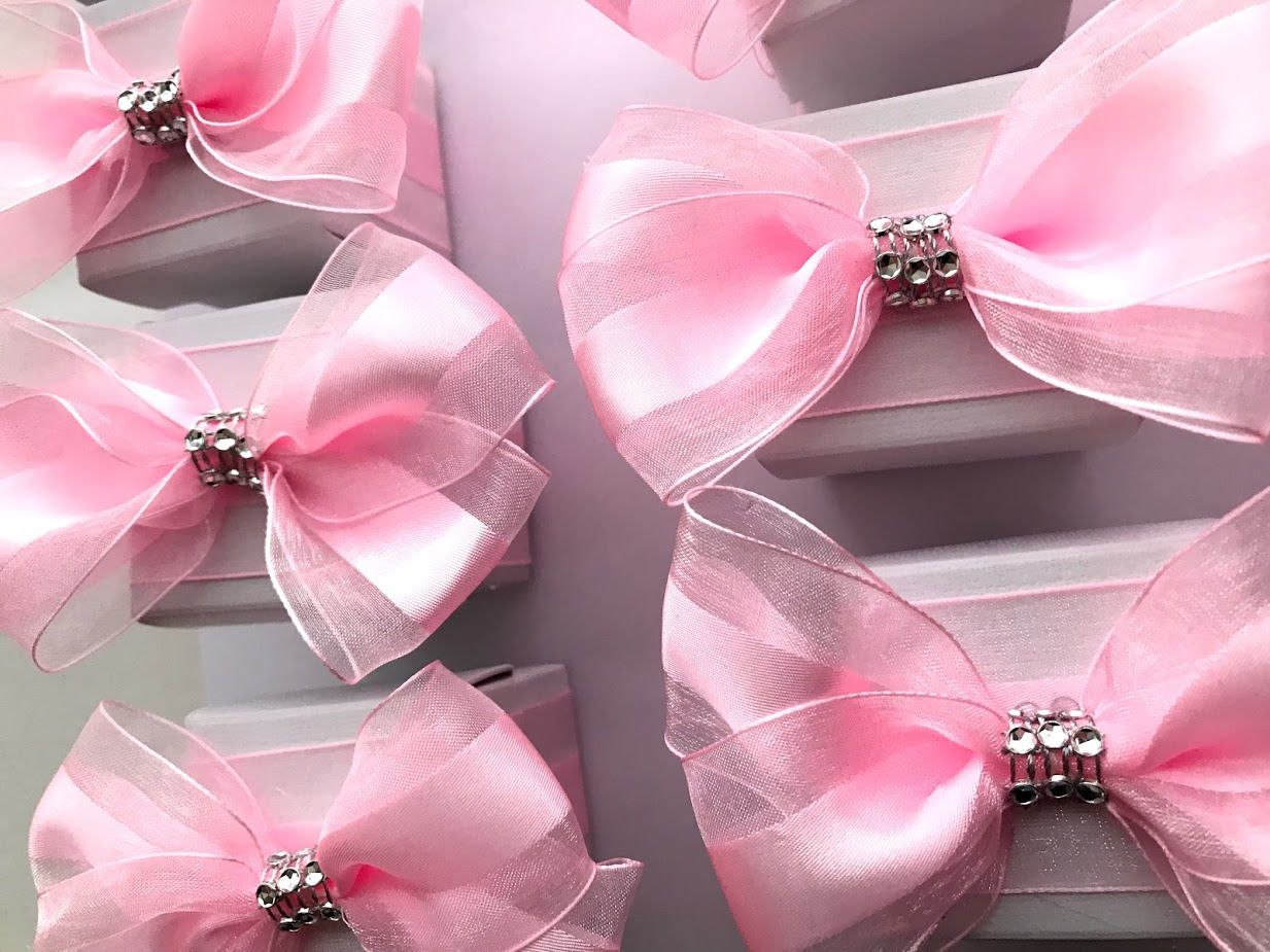 25 Bridal Favor Box,Pink Favor Treat Boxes, Cookie Boxes, Gift Boxes ...