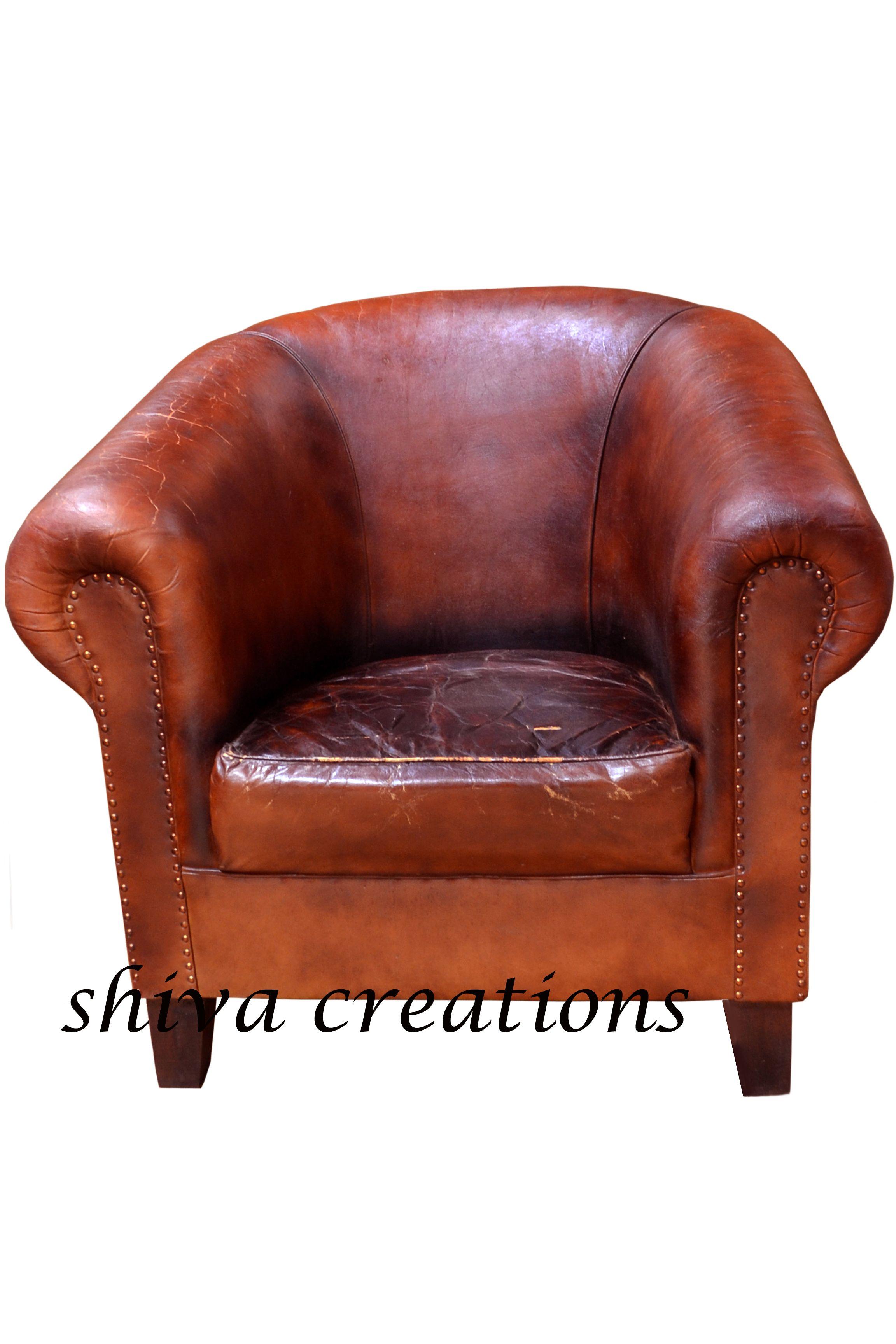 Phenomenal Vintage Leather Sofa India Wooden Leather Handcrafted Creativecarmelina Interior Chair Design Creativecarmelinacom