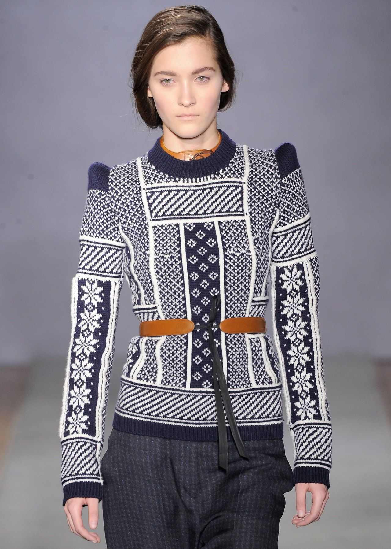 wgsn: The hint of an alpine theme in this knit from @Maison ecologique ecologique Martin Margiela #pfw
