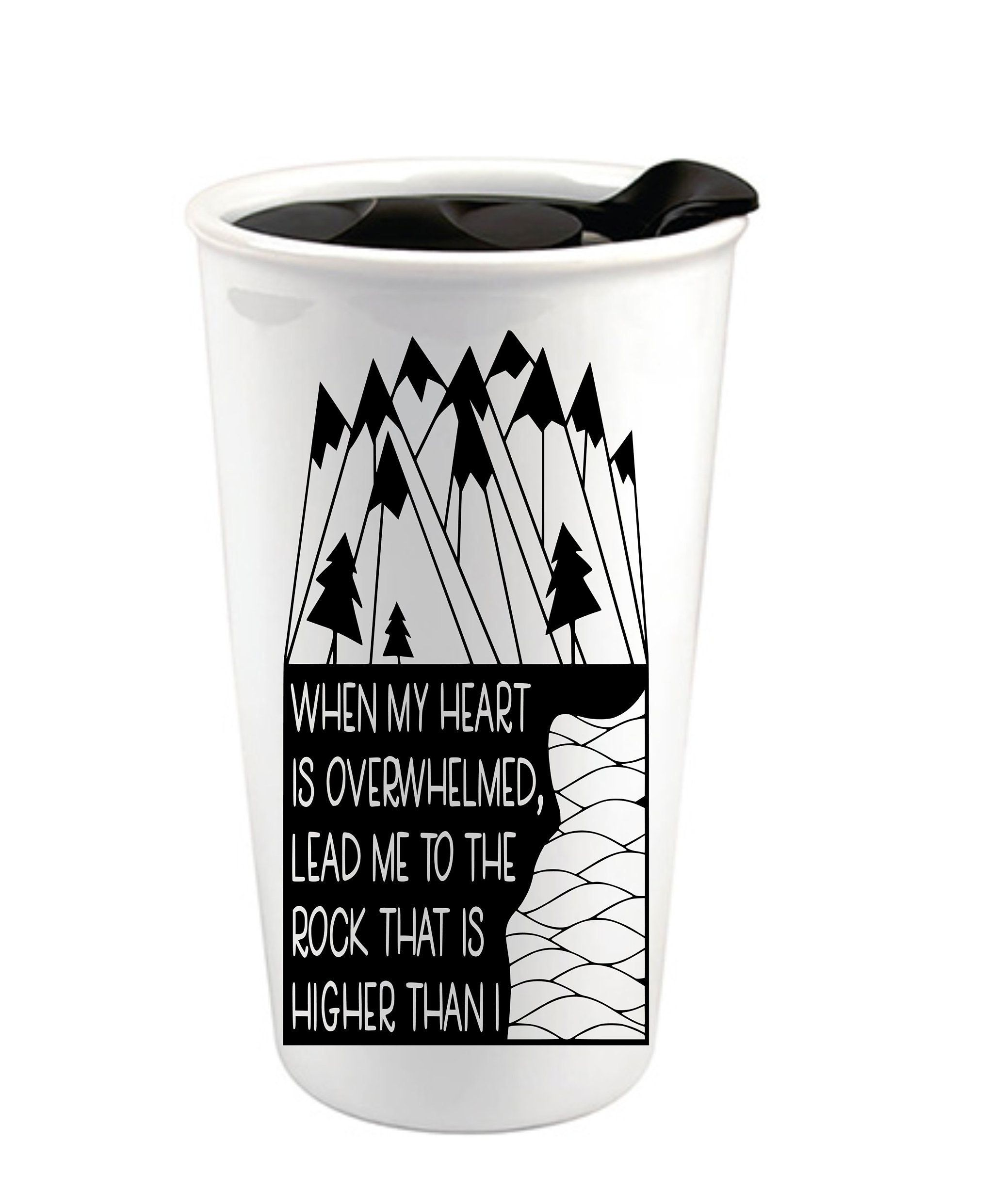 Mountains Custom Coffee Cup Ceramic Travel Mug