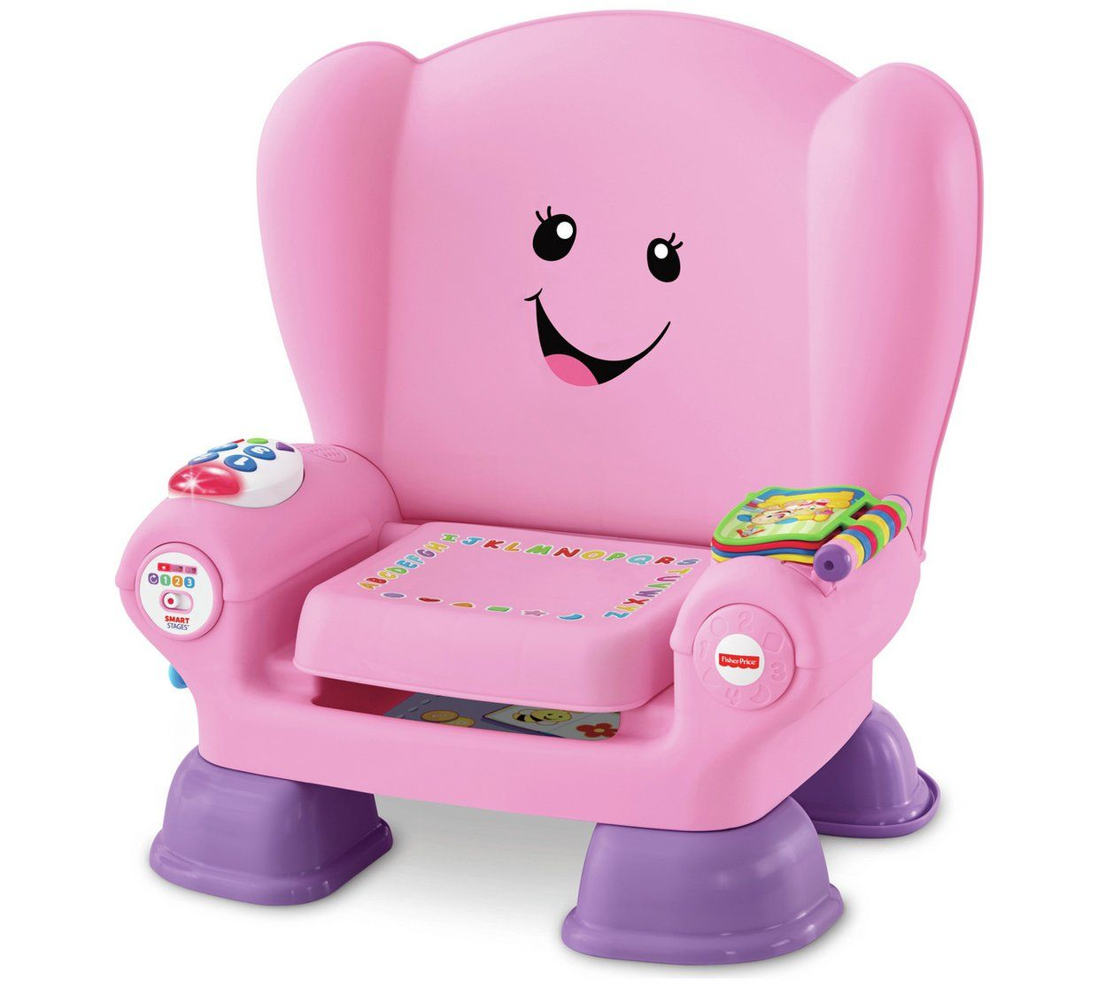 fisher-price laugh & learn smart stages chair pink - qe