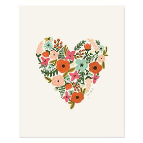 Floral Heart Print #heart #flowers #print