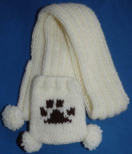 Dog paw print pocket scarf knitting pattern | Ideas | Pinterest ...
