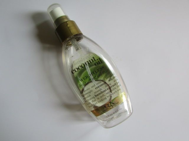 #Organix #Nourishing #CoconutOil #Weightless #hydrating #Oil #Mist #review #price and details on the blog