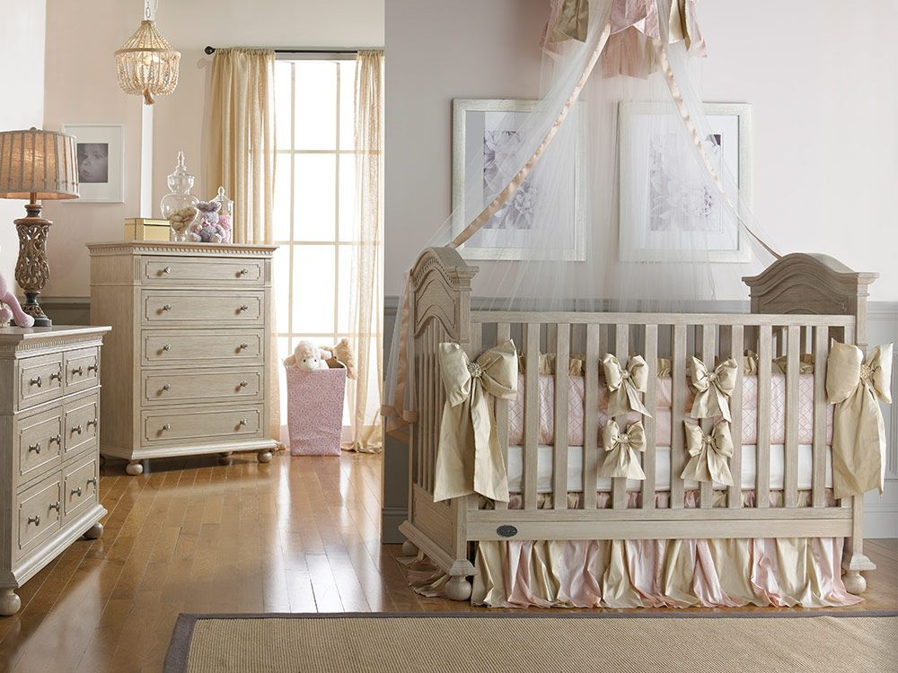 Nursery Ideas · Dolce Babi | Naples Collection Traditional Crib   Driftwood  Finish
