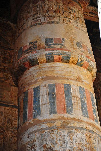Column in Khonsu Temple
