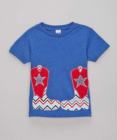 Royal Blue Cowboy Boots Tee - Infant, Toddler & Boys by little bits #zulily #zulilyfinds