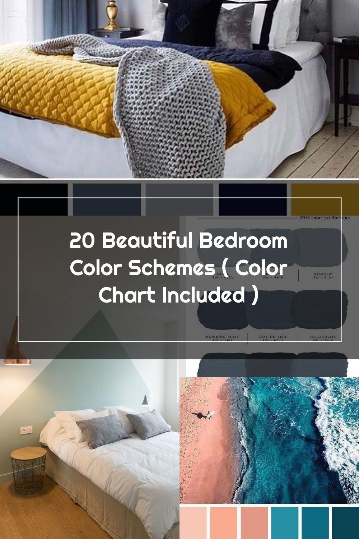Gray Yellow Navy-Blue Bedroom Color Scheme #bedroom #color #scheme #decorhomeideas #colorchart