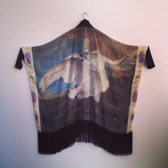 Silk Chiffon Fringe Kimono Rijksmuseum by iheartnorwegianwood