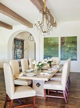 dining room, white walls, wall art, white chairs, flower, Esstisch ideennn