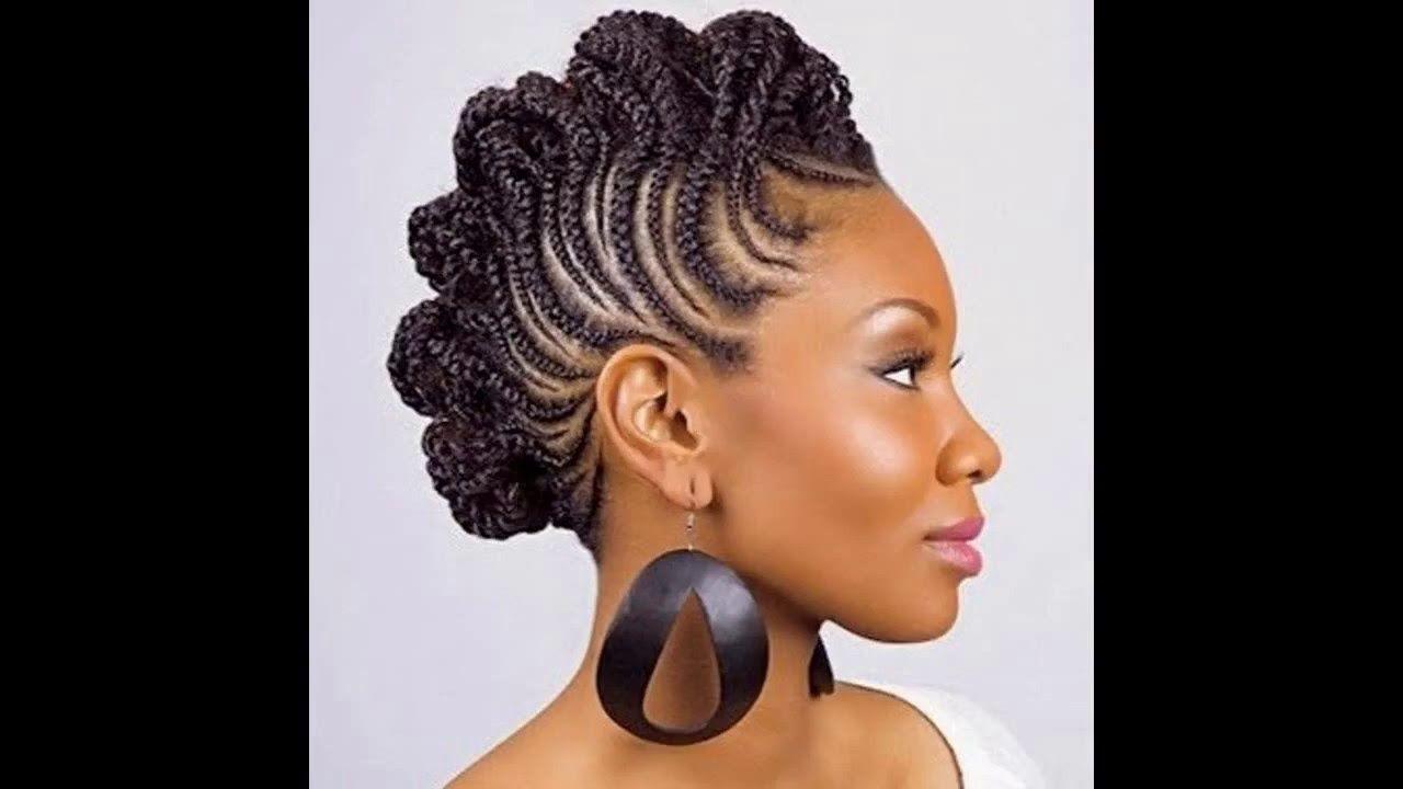 Catalogue coiffure africaine, cheveux laches et chignon avec