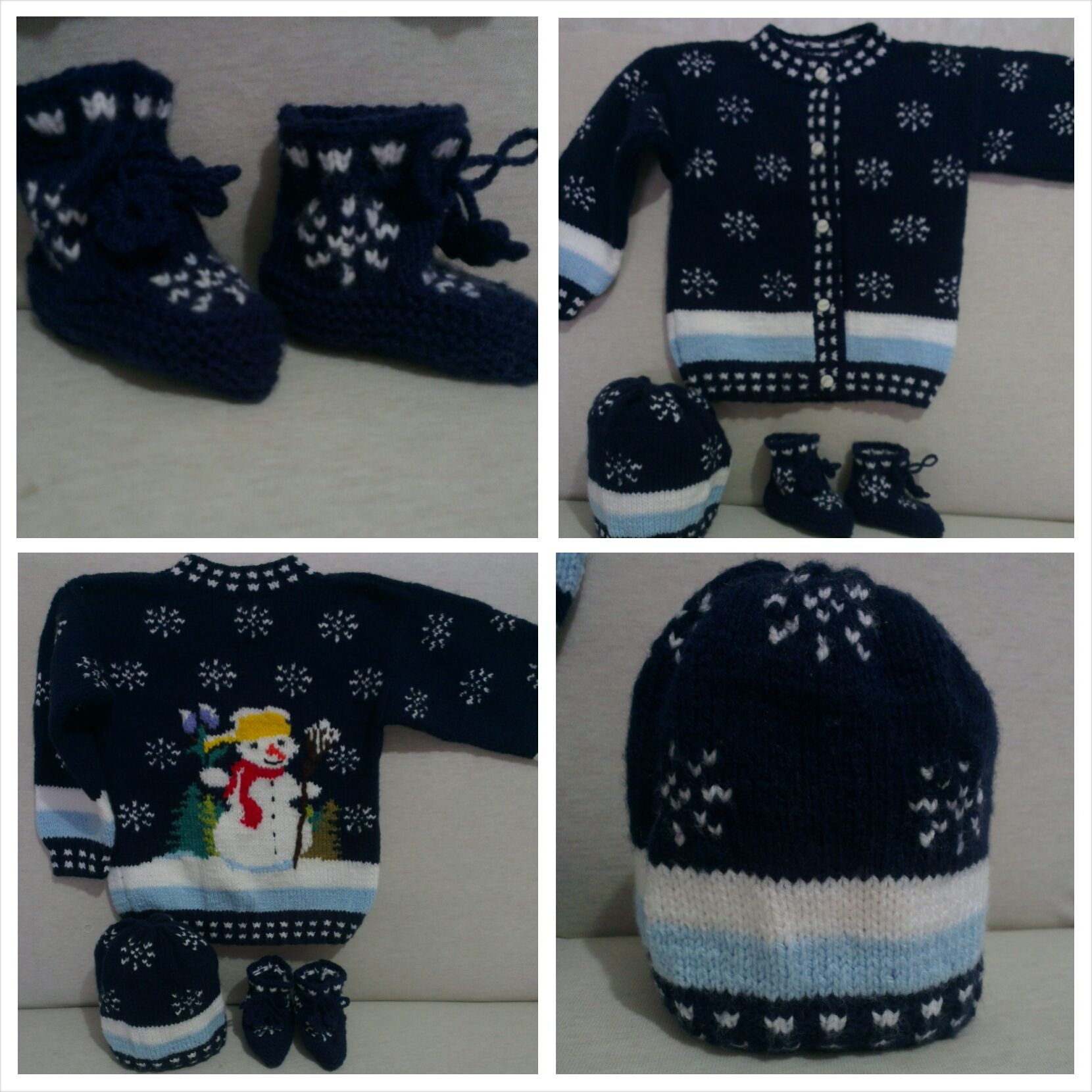 kardanadam #snowman #snowflakes #knitting