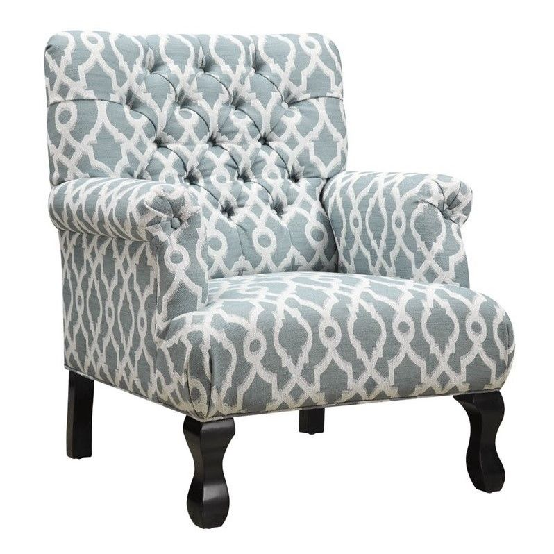Best Coaster Traditional Tufted Accent Chair In Vintage Blue 640 x 480