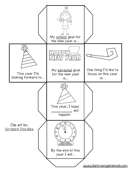New Year's Dice game to get your students talking about