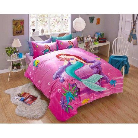 lotti-poppi.com - günstig Kinderbett 3D Kinder-Bettwäsche Disney Prinzessin Bedding Girls Bettset billig online kaufen