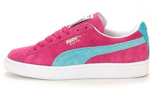 Pink/blue Puma Suede