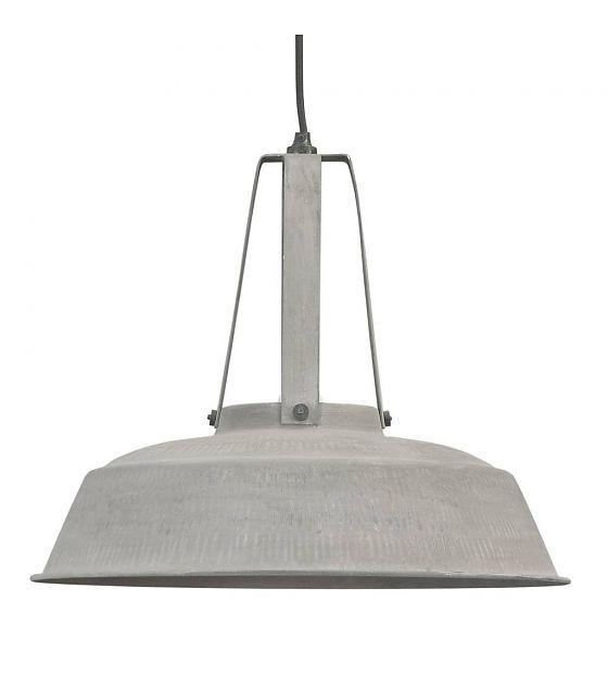 Hanglamp grijs mat metaal 45cm Industrile lamp