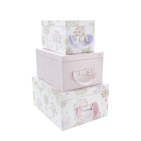 Fabric For Children S Rooms Storage Boxes With Lids Pink