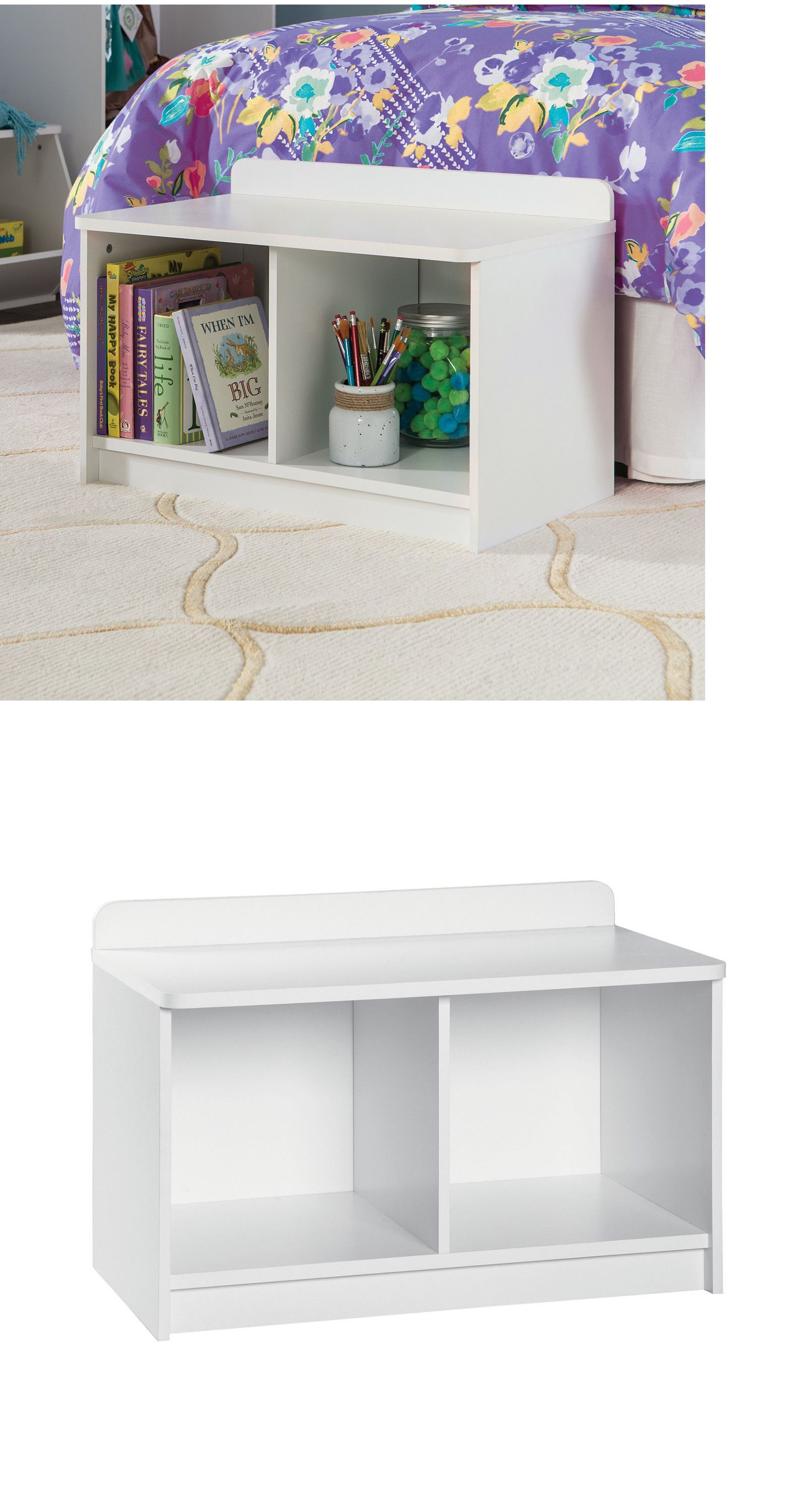 Benches 183321 New Kidspace Entryway White Small Solid Storage