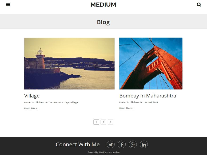 Free #WordPress theme › Medium   WORDPRESS   Pinterest