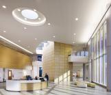 Site bench by Davis Furniture - Mercy Health West Hospital in Cincinnati - designed by AECOM