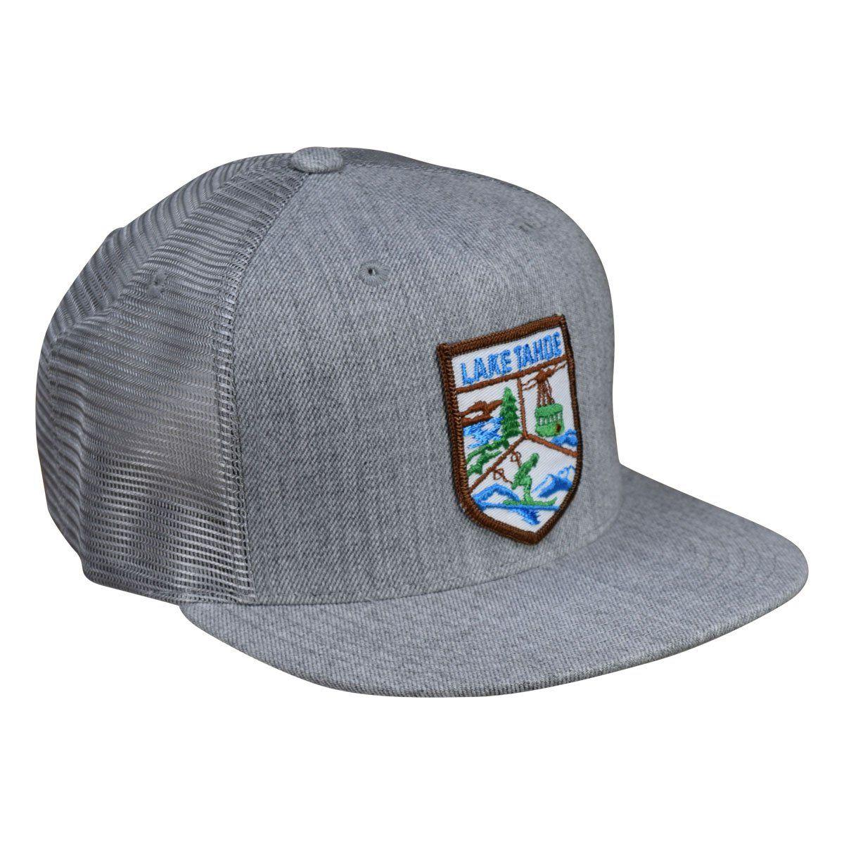 Lake tahoe trucker hat by lets be irie heather gray