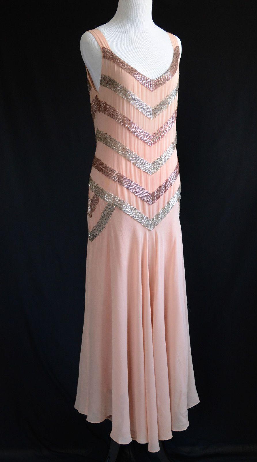 1920\'s vestido color melocotón de seda y gasa. | elisabeth ...