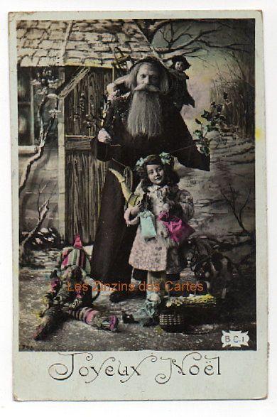 Carte postale ancienne | Père Noël | Fillette | Maison | Poupées | Jouets | Cartes postales ...