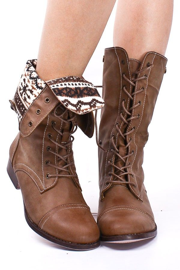 Love these foldover combat boots! I've been looking for a great ...