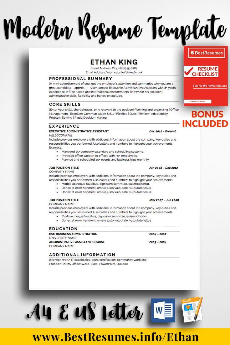 Resume Template Ethan King Best Of Bestresumesfo