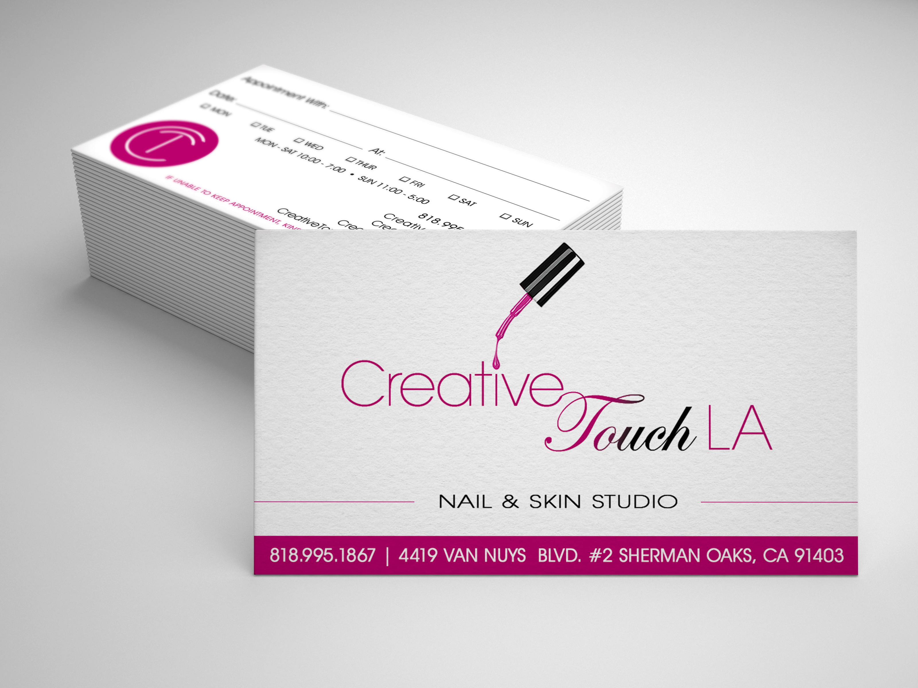 Creative Touch Business Cards A Design Intended To Celebrate The Timeless Importance Of Nail Care Natural Nail Care Nail Care Business Card Design