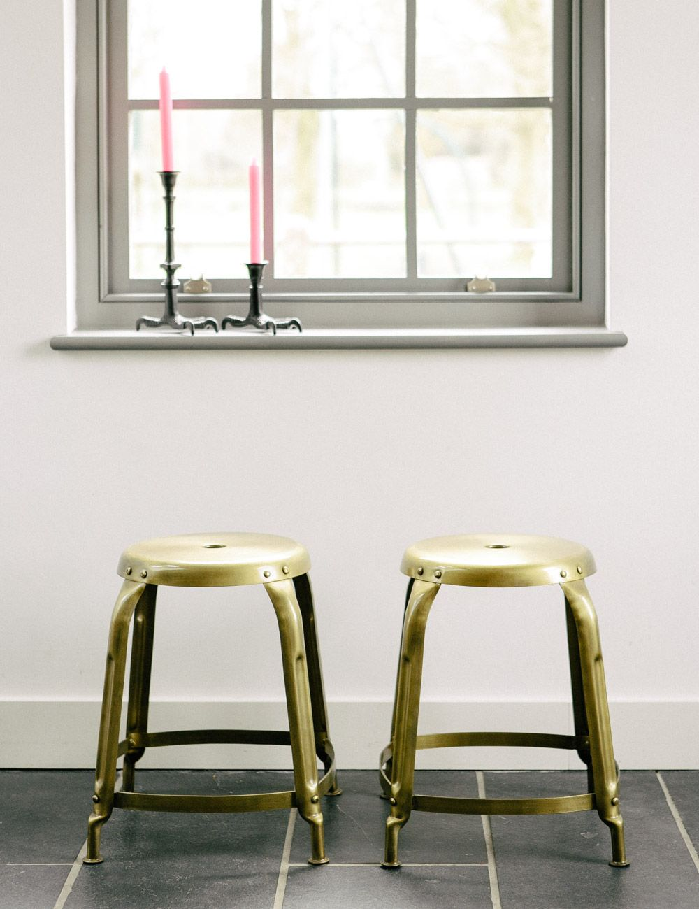 vintage gold stool buy online now from rose and grey eclectic home