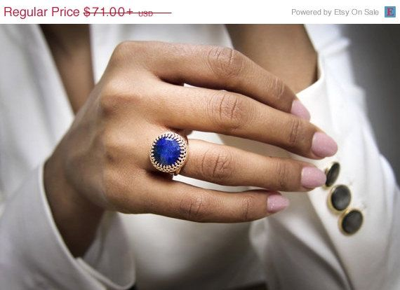 25% OFF SALE - Lapis ring,rose gold ring,14k rose gold filled,Lapis Lazuli,gemstone ring,gemstone birthstone,September ring by AnemoneJewelry on Etsy https://www.etsy.com/listing/198711187/25-off-sale-lapis-ringrose-gold-ring14k